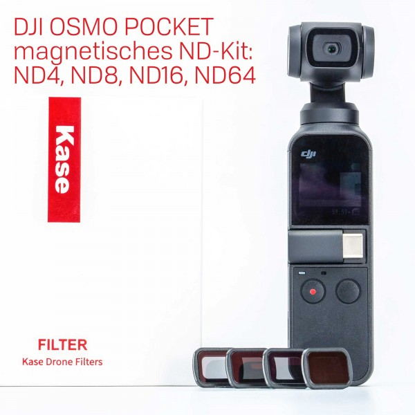 Kase magnetic ND Filter Kit for DJI OSMO Pocket incl. ND4 ND8 ND16 ND64