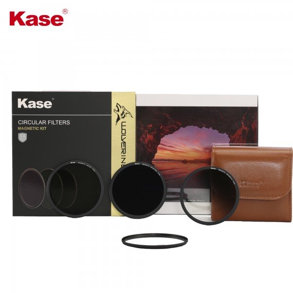 Kase ROUND Wolverine magnetic round filter kit incl CPL ND1000 Soft GND 0.9